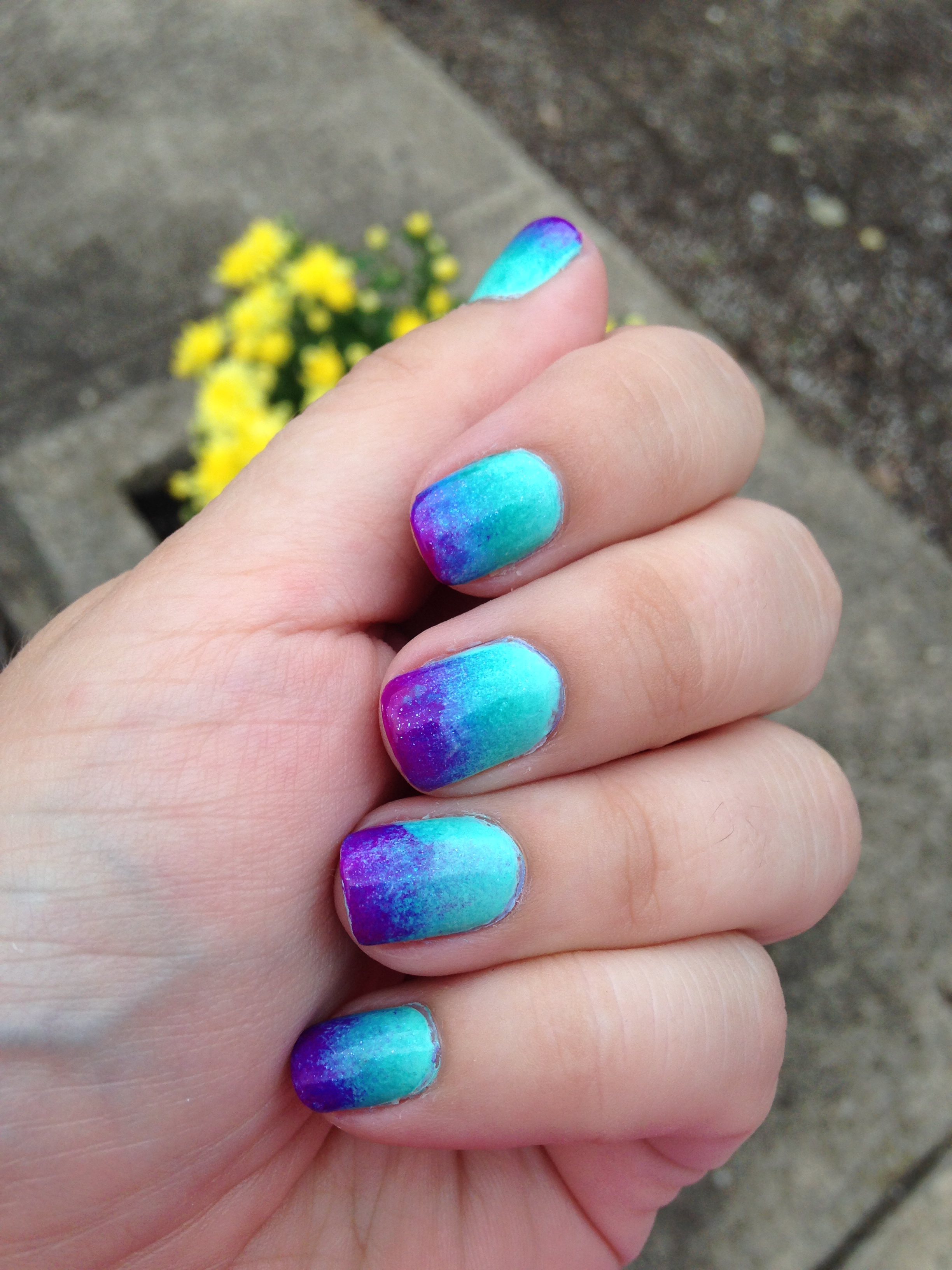 First Attempt At Ombre Nails