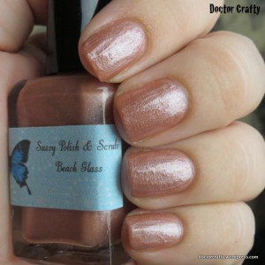 Sassy Polish and Scrubs Beach Glass nail polish swatch