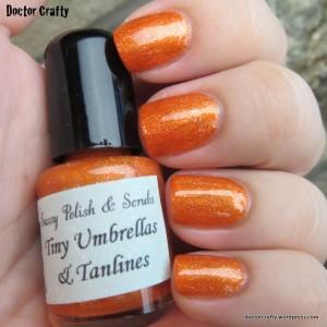 Sassy Polish & Scrubs Tiny Umbrellas & Tanlines nail polish swatch