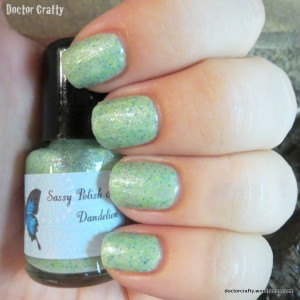 Sassy Polish & Scrubs Dandelion nail polish swatch