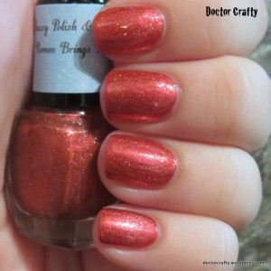 Sassy Polish & Scrubs Romeo Brings Roses nail polish swatch