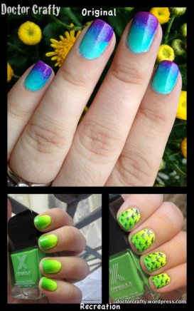 1-Neon Yellow & Green Gradient, Bird Stamp