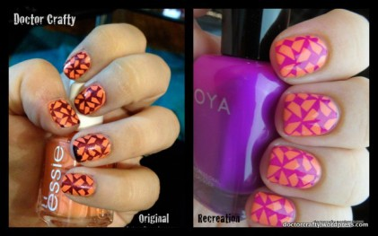 1-Purple and Peach Stamped