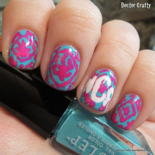 Lilly Pulitzer-inspired Mani