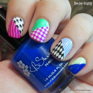 mad hatter manicure stamping nail art