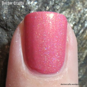holographic i love nail polish cutie pop nail swatch