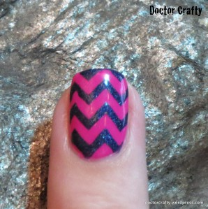 chevron holographic blue fuschia kbshimmer beach please a england tristam nail art