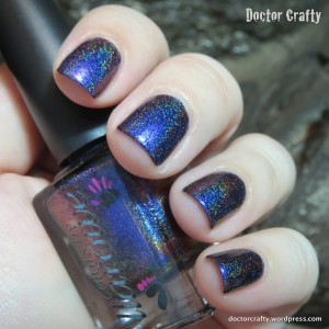 colors by llarowe best day of my life multichrome holographic nail polish swatch purple blue