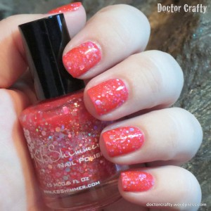 kbshimmer nail polish swatch belle of the mall glitter