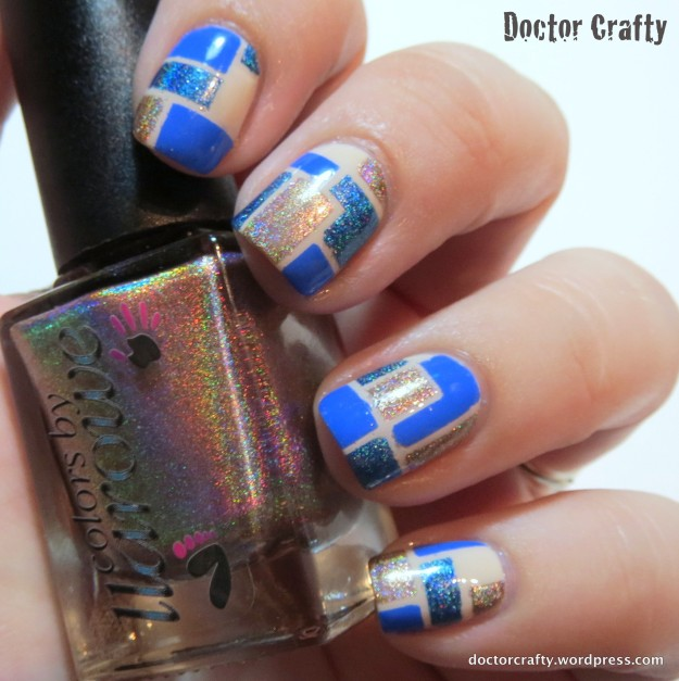 blue mosaic nail art striping tape manicure barry m damson chaos and crocodiles sleeper cell opi my vampire is buff colors by llarowe blonde ambition