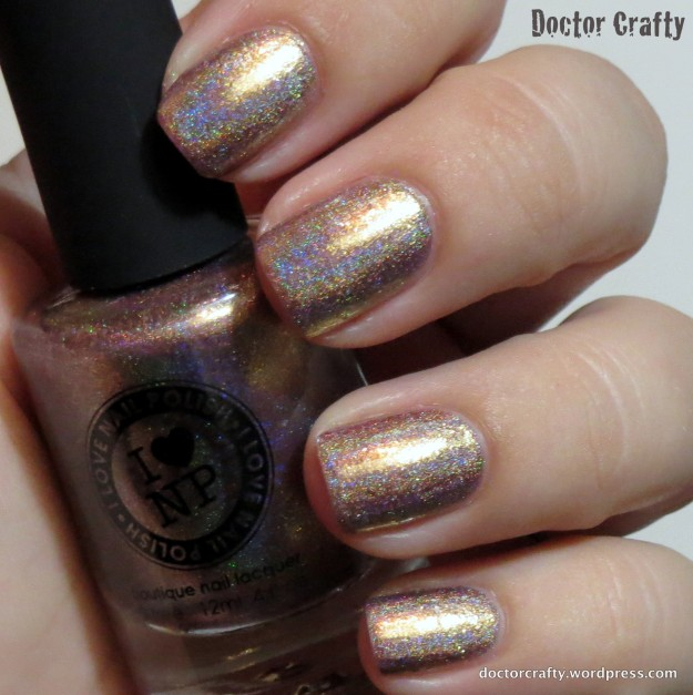 i love nail polish ilnp iconic gold holographic nail polish holo humpday