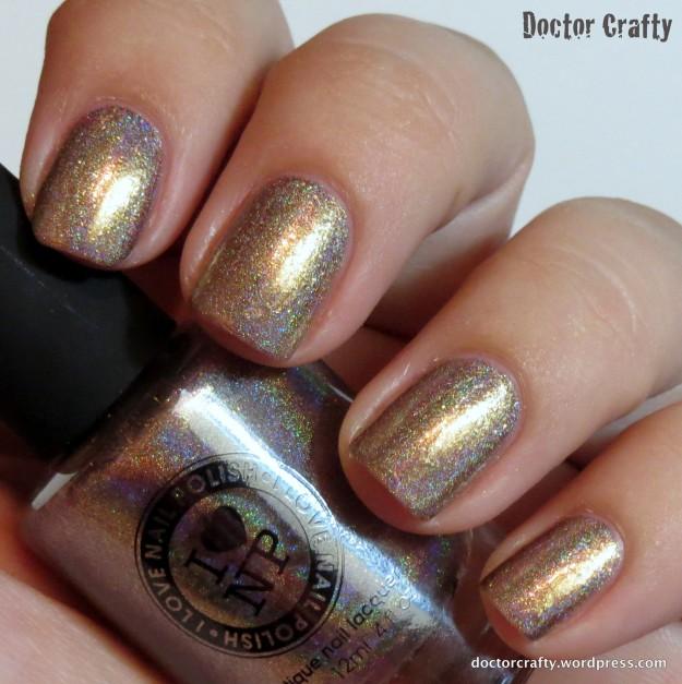 i love nail polish ilnp iconic gold holographic nail polish holo humpday