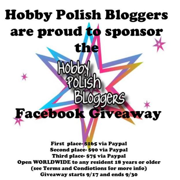 Hobby Polish bloggers facebook Giveaway
