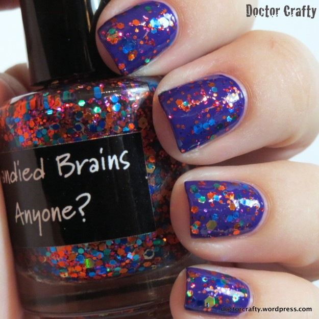 CrowsToes Candied Brains, Anyone? over OPI Do You Have This Color In Stockholm?