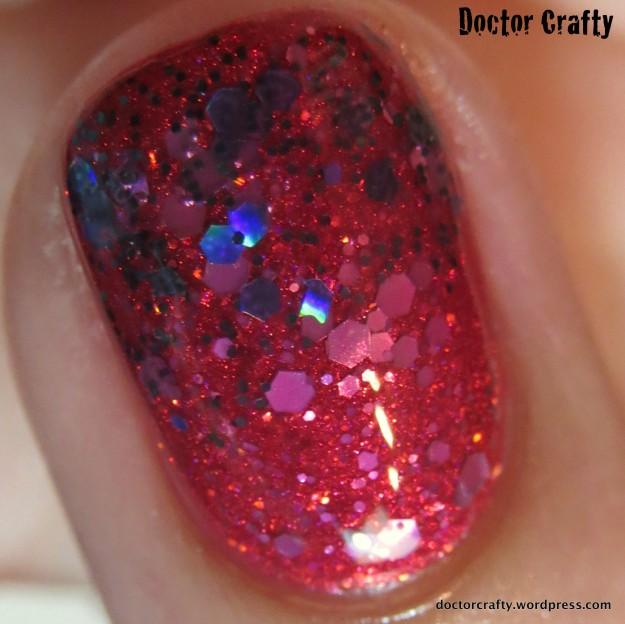 Glitter jelly sandwich manicure