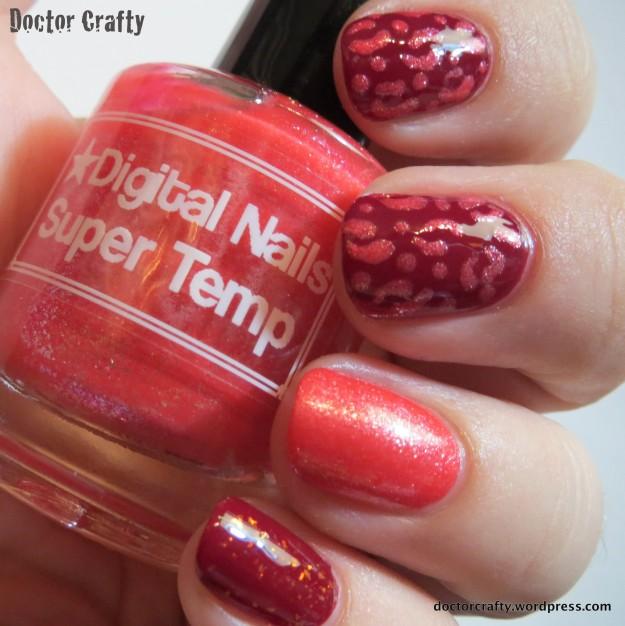 Leopard print skittlette manicure