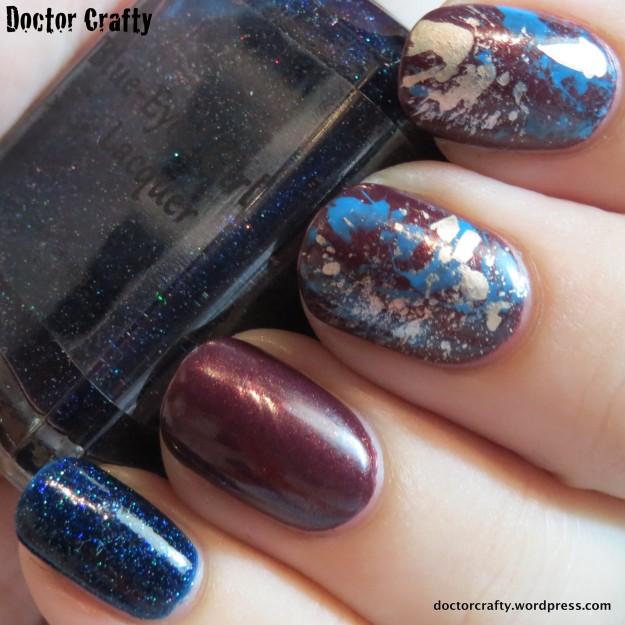 My splatter manicure