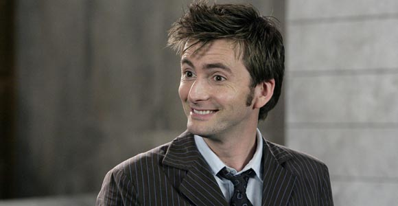 Om nom nom nom... My man, David Tennant, as the Tenth Doctor