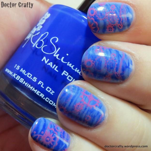 Springy steampunk manicure