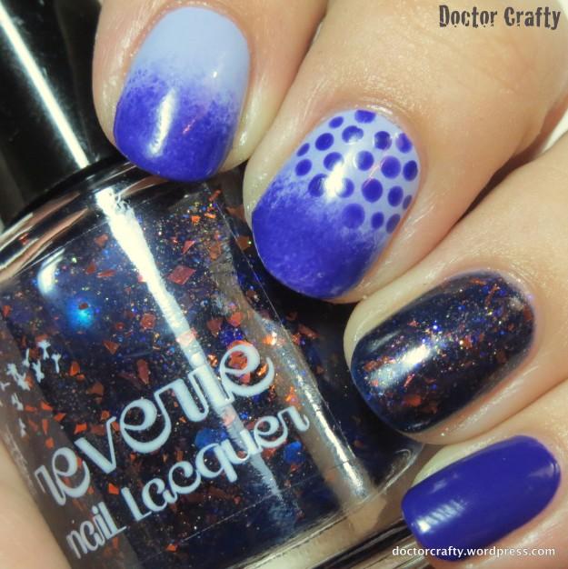 Purple mish-mash manicure