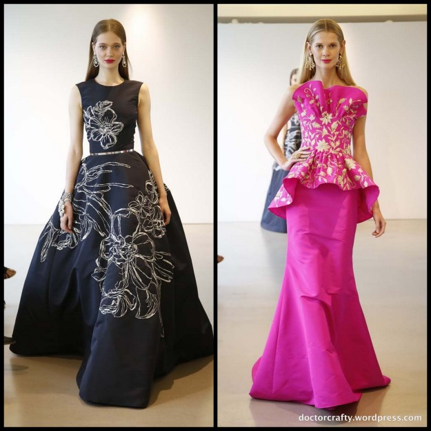 A few dresses from Oscar de la Renta 2015 Resort collection