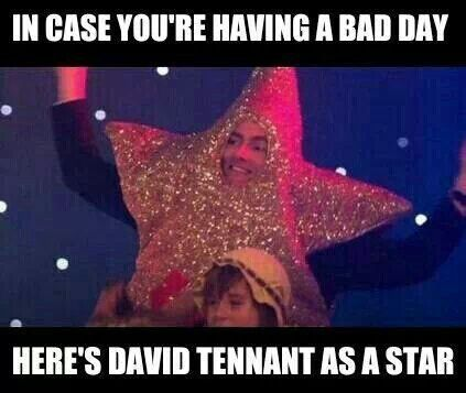 David Tennant as a star, doctor who