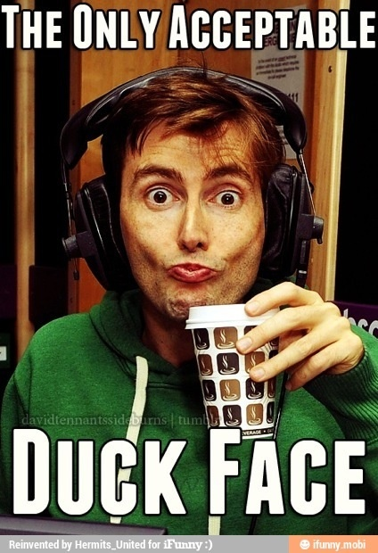 David Tennant duck face, doctor who