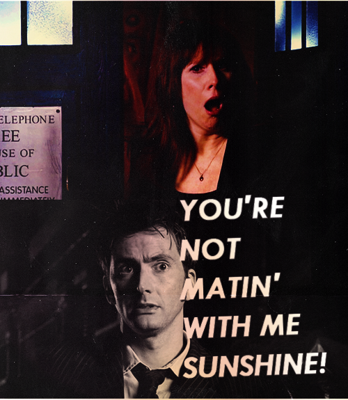 David Tennant not mating with me sunshine, doctor who, donna noble, catherine tate