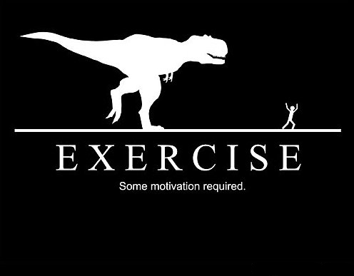 trex exercise motivation meme
