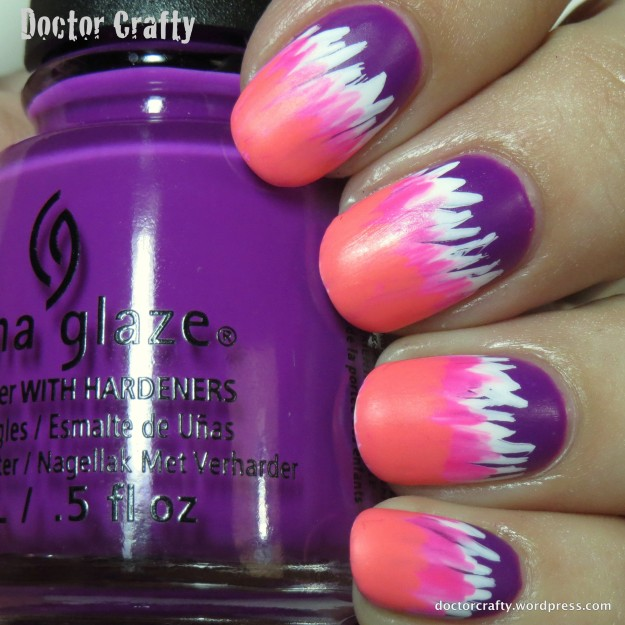 Neon striped waterfall gradient