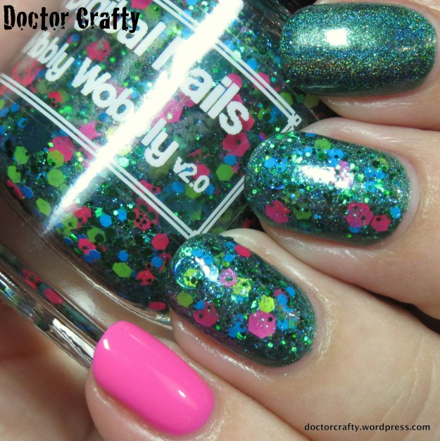 My glitter and holo skittlette