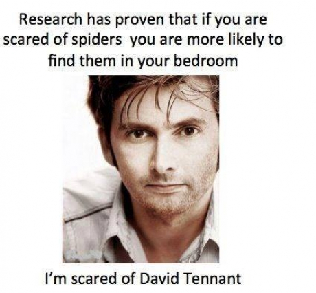 David Tennant scared of spiders in bedroom